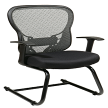 Office Star 529-3R2V30 Deluxe R2 SpaceGrid Back Visitors Chair