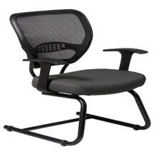 Office Star 55-7V30 Professional Dark Air Grid Back Visitors Chair