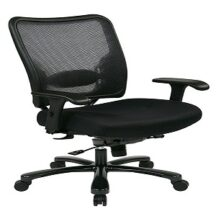 Office Star 75-37A773 Double Dark Air Grid Back and Mesh Seat Ergonomic Chair