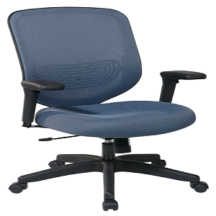 Office Star 829-1N7U Blue Mesh Seat and Back Chair