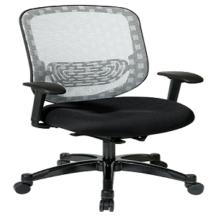 Office Star 829-3R1C728P Executive White DuraFlex with Flow-Thru Technology Back Chair