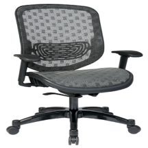 Office Star 829-R22C728P Executive Charcoal DuraFlex with Flow-Thru Technology Back and Seat Chair