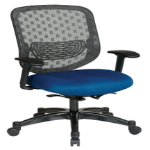 Office Star 829-R2C728P Executive Charcoal DuraFlex with Flow-Thru Technology Back Chair