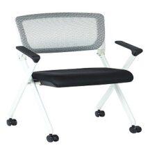 Office Star 848W Folding Chair with Flex Back