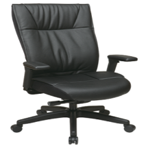 Office Star 9370-55NC17U Contemporary Executive Leather Chair